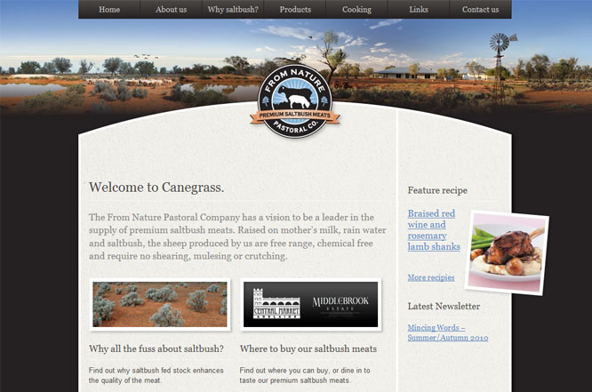 Website design - From Nature Pastoral Co.