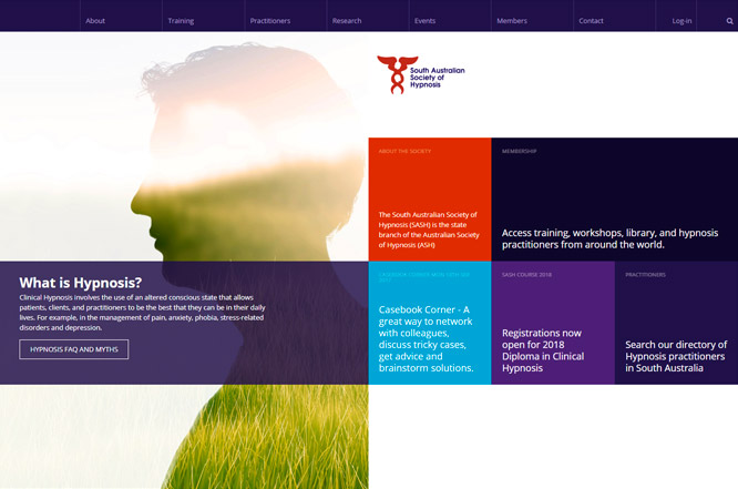 Website design - South Australian Society of Hypnosis