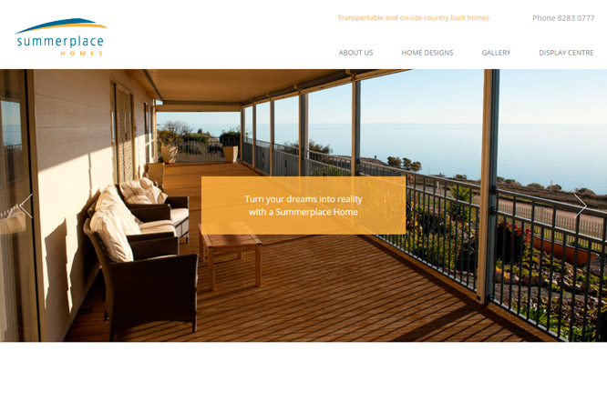 Website design - Summerplace Homes